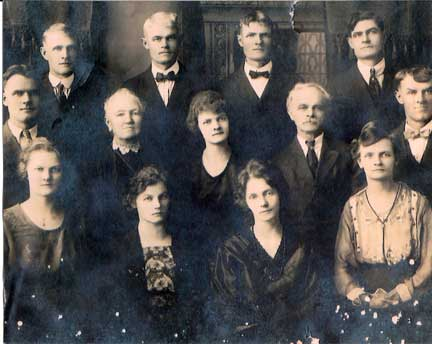 Top row, left to right - Henry, John, Charles, and Will Misfeldt Middle, left to right - Fred, Margaret, Ida, Ernest, and Christian Bottom, left to right - Emma, Margaret, Elizabeth, and Christina
